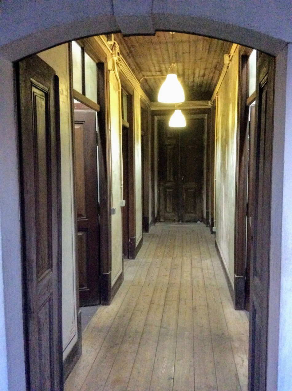 The first floor hall way, the Old Manor House Renovation, Portugal