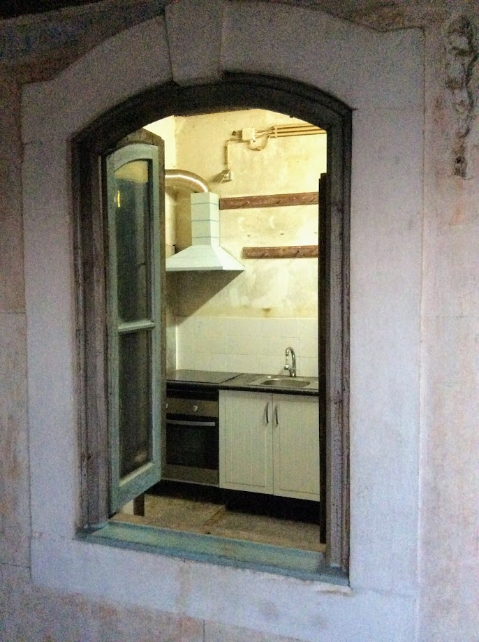 The first floor kitchen, the Old Manor House Renovation, Portugal