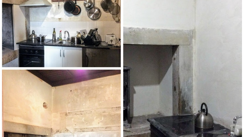 The kitchen starts to take shape in the Old Manor House, Portugal
