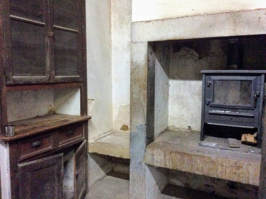 the kitchen in the old manor house, Portugal