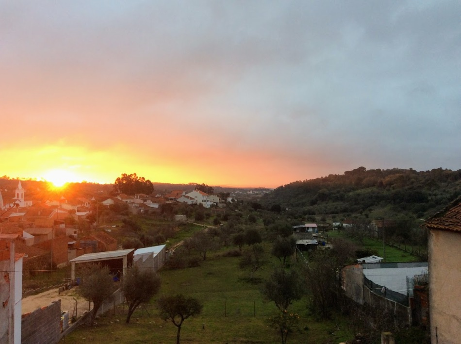 sunrise in Fungalvaz, renovation of an old manor house portugal