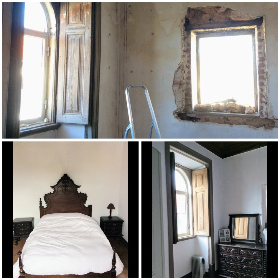 Bedroom remodel - renovation of an old manor house portugal