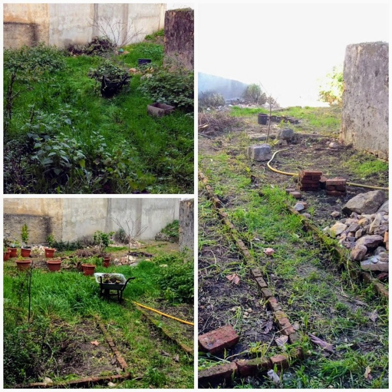 The private walled garden. The Old Manor House Portugal.