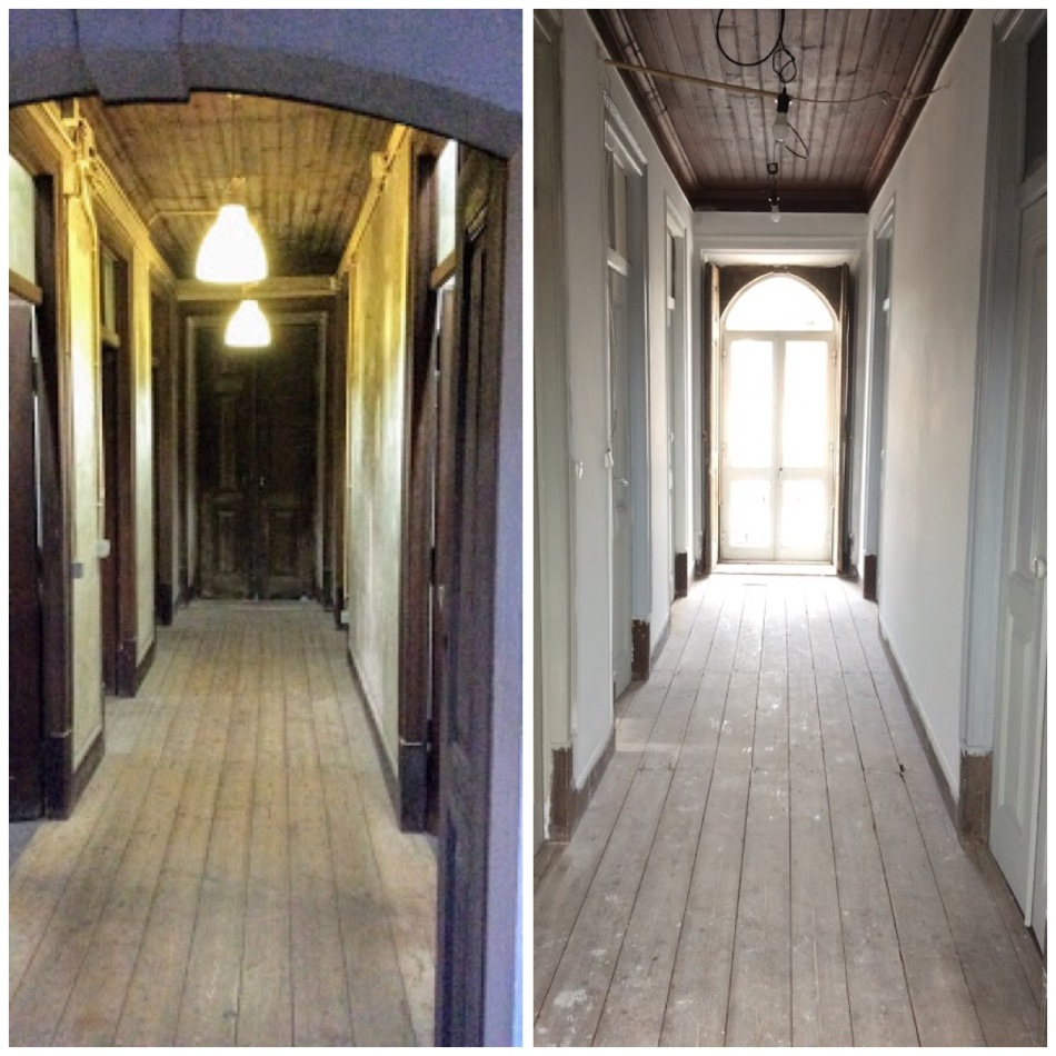 Before and after hallway, the old manor house portugal