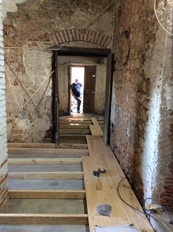 Laying a new wooden floor, Renovation of an Old Manor House Portugal