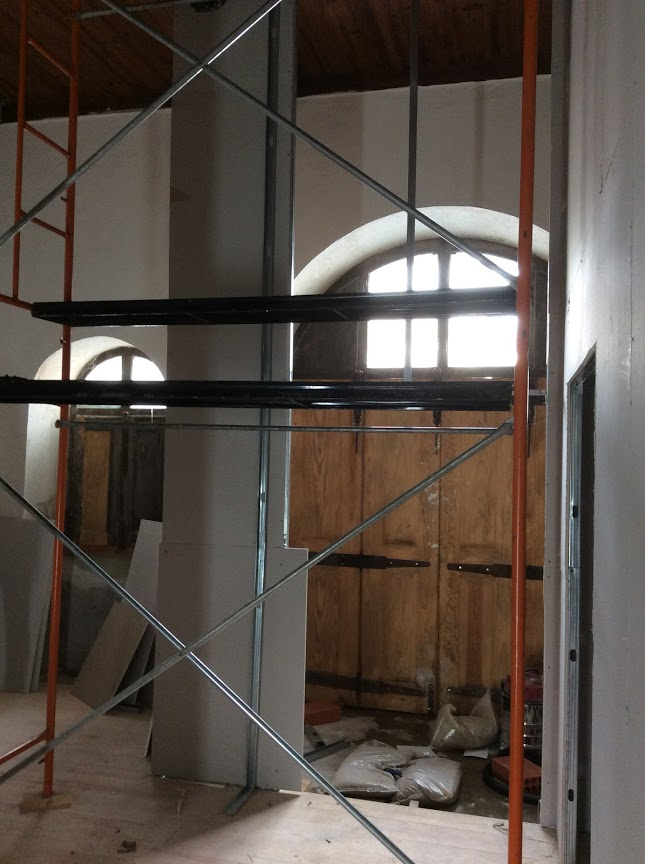 Building new walls in an old house. The old manor house. Portugal