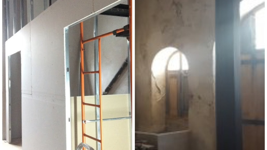Building new walls in an old house